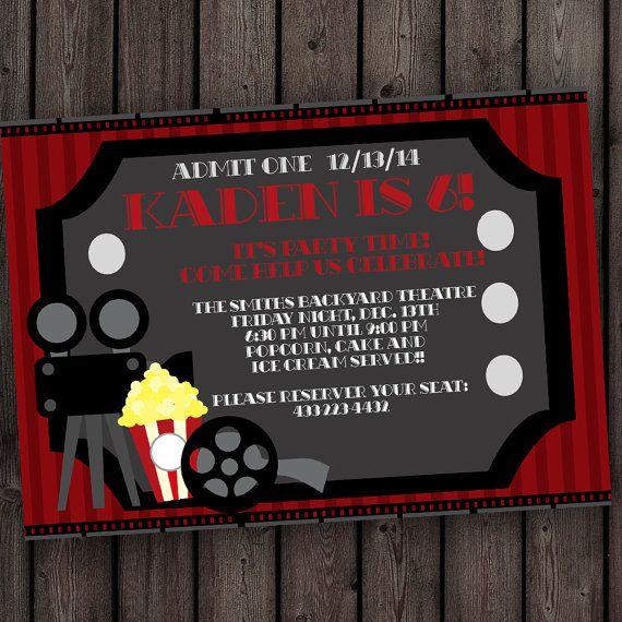 movie ticket invitation movie party invitation free wording