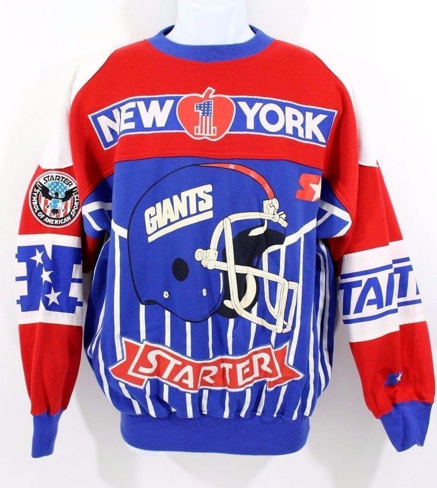 competitive price 12e0d 764fc Details about Vintage STARTER New York Giants Sweatshirt ...
