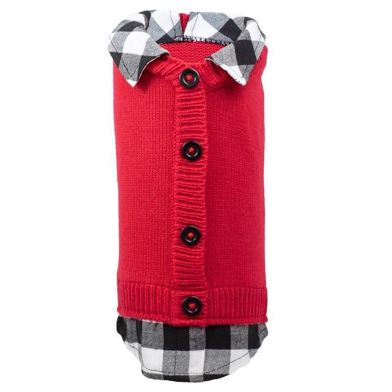 Your pet will stay stylish and warm this winter with this dog sweater! Made of 100% acrylic, these comfy sweaters have a faux button back placket. Check out the rest of the Buffalo Plaid Collection here. Sizes: XXS, XS, SM, MD, LG, XL, XXL No two dogs are created equal, neither are size charts! Please refer to the size chart to ensure the perfect fit.