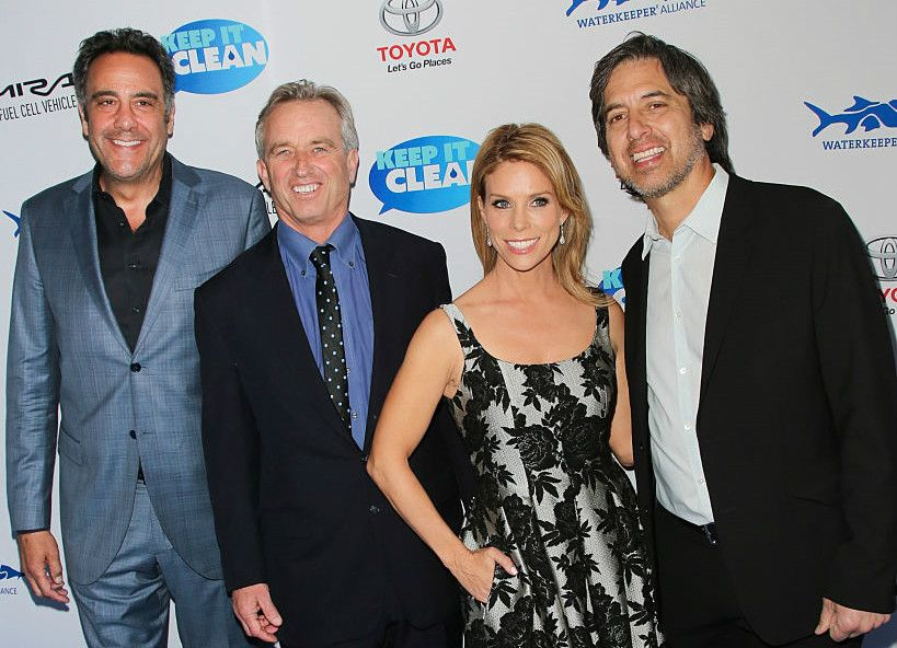 Brad Garrett, Bobby Kennedy Jr., Cheryl Hines Kennedy and ...Brad Garrett Family
