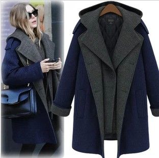 Coats Nibbuns Woolen Coat Women's Designer Wool Coat Korean Coat ...