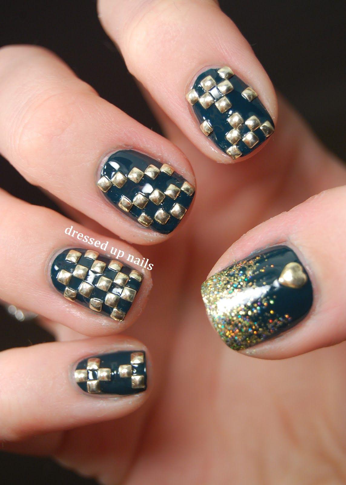 Geometric Square Stud Nail Art Nail Fashion Pinterest Stud