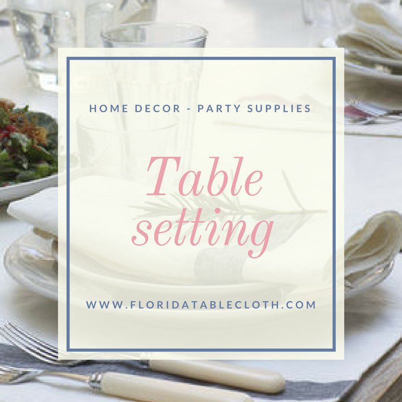 TABLE SETTING – AMERICAN STYLE Cloth #napkins are appropriate for a ...