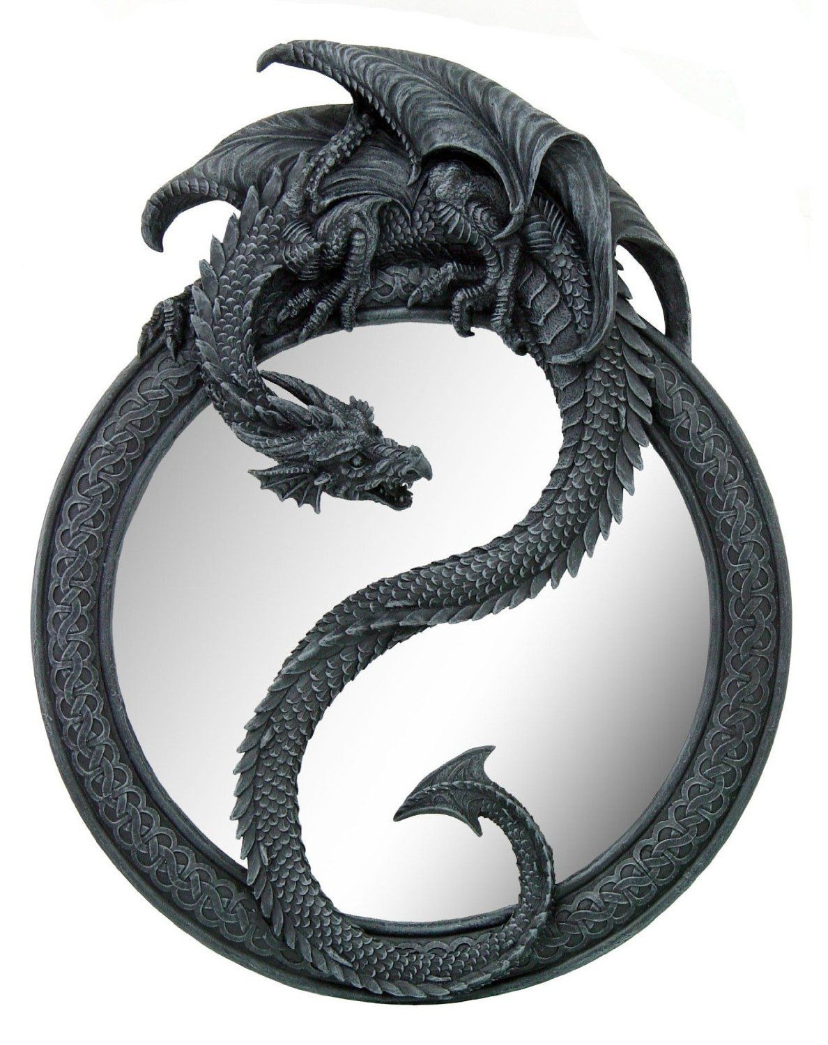 Medieval Dragon Wall Mirror Home Decor Decorative.