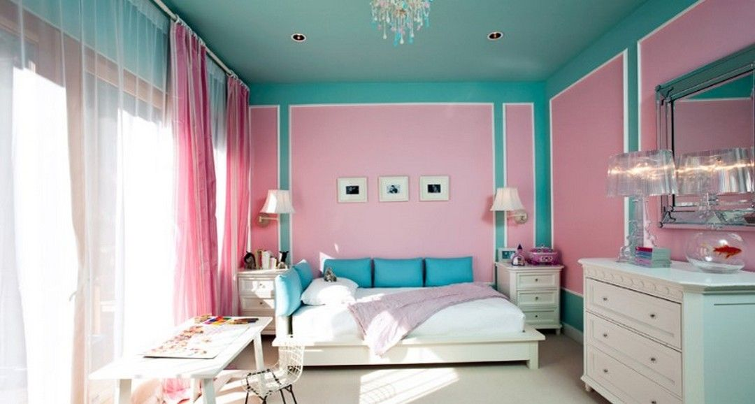 6 Beautiful Blue And Pink Combination Bedroom Ideas Bedroom Paint Design Girls Bedroom Paint Little Girl Rooms
