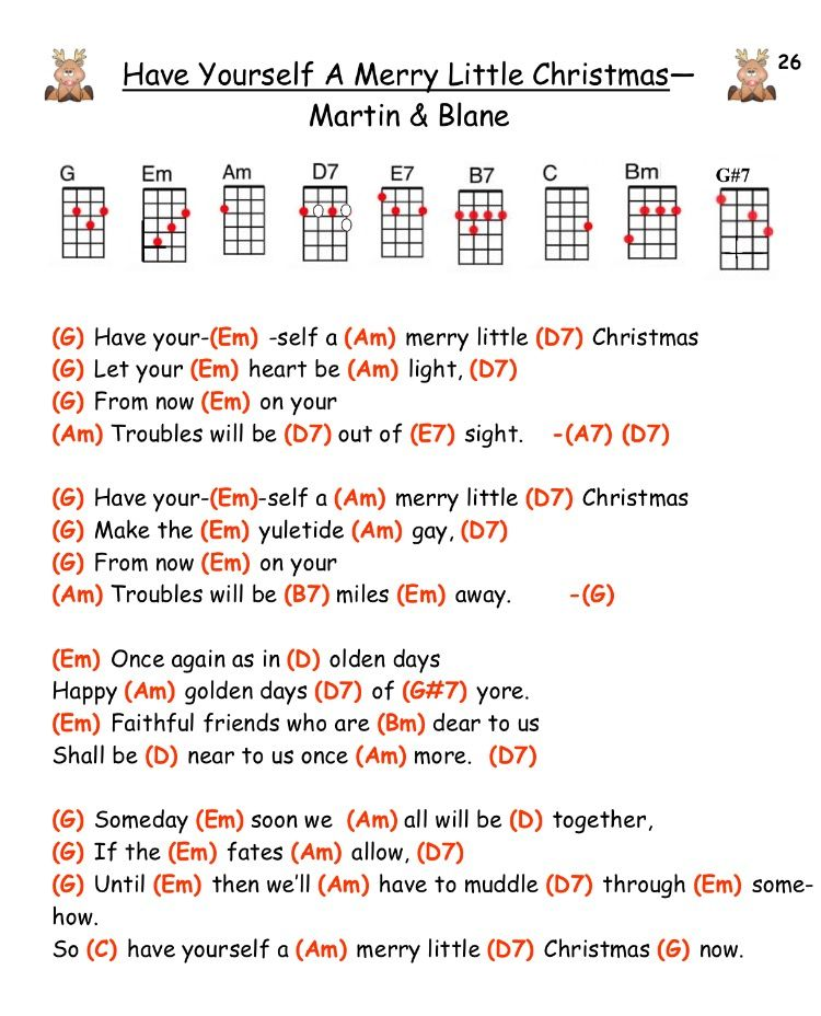 visit - Have Yourself A Merry Little Christmas Chords