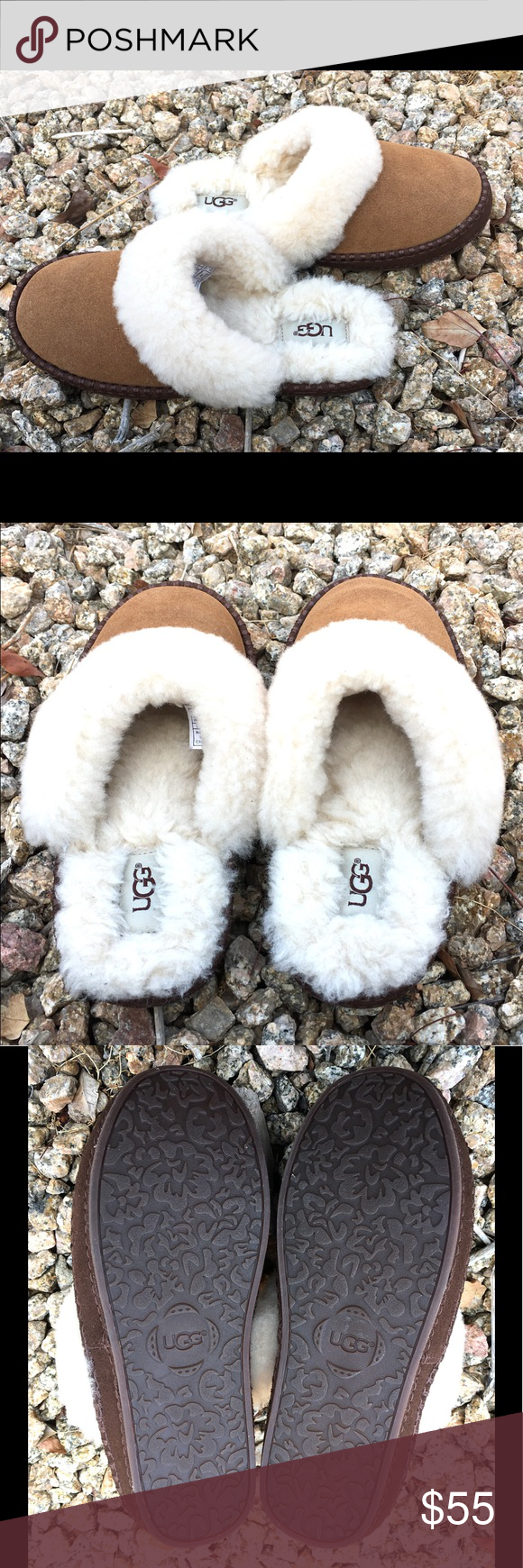 68602682756ee UGG Big Kid/Adult Oaken Suede Slippers 💯% AUTHENTIC. These slippers ...