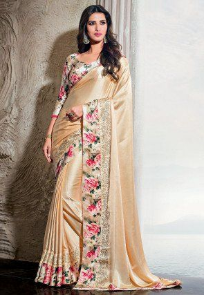 Indian saree,wedding saree Satin chiffon saree and blouse for women,saree traditional saree dress saree,partywear saree