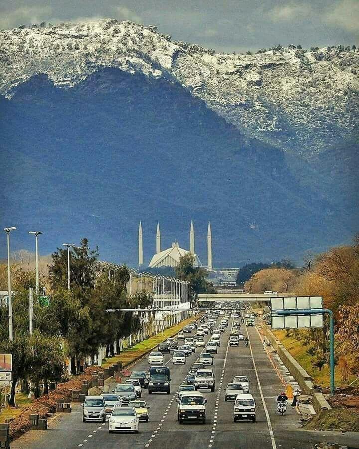 Rawalpindi Streets: Islamabad, Pakistan. Pretty Mountainous View