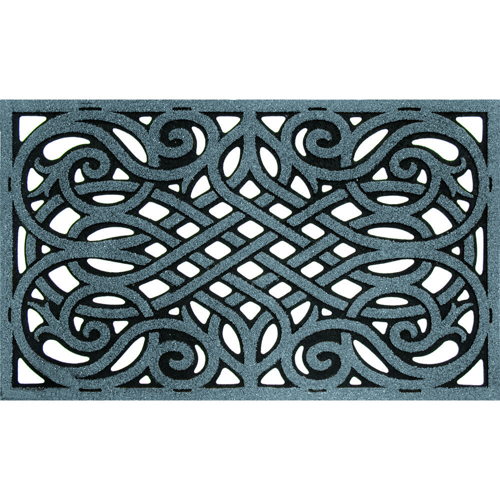 WROUGHT IRON GRAPHITE --- Solid neutral colors to compliment any décor, these heavy weight molded rubber mats provide an amazing scraping surface that repels water for great traction in all weather