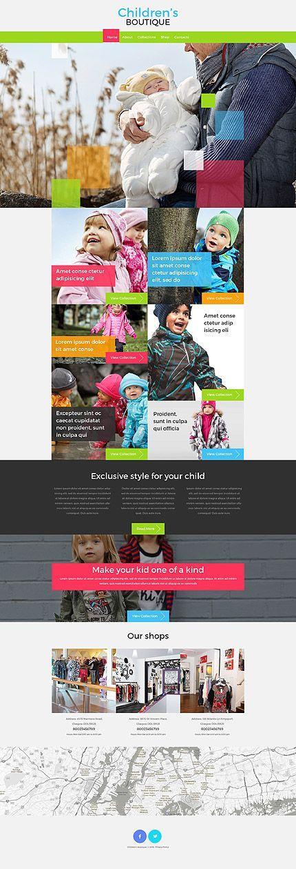 Children's Boutique #website #template. #themes #business #responsive