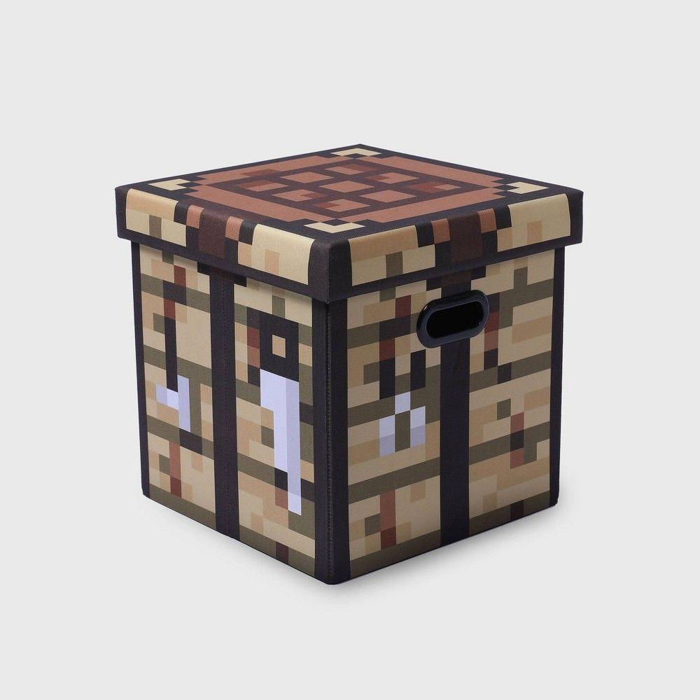 Minecraft Crafting Table Block Storage Bin Tan In 2021 Craft Table Storage Bins With Lids Storage Bin