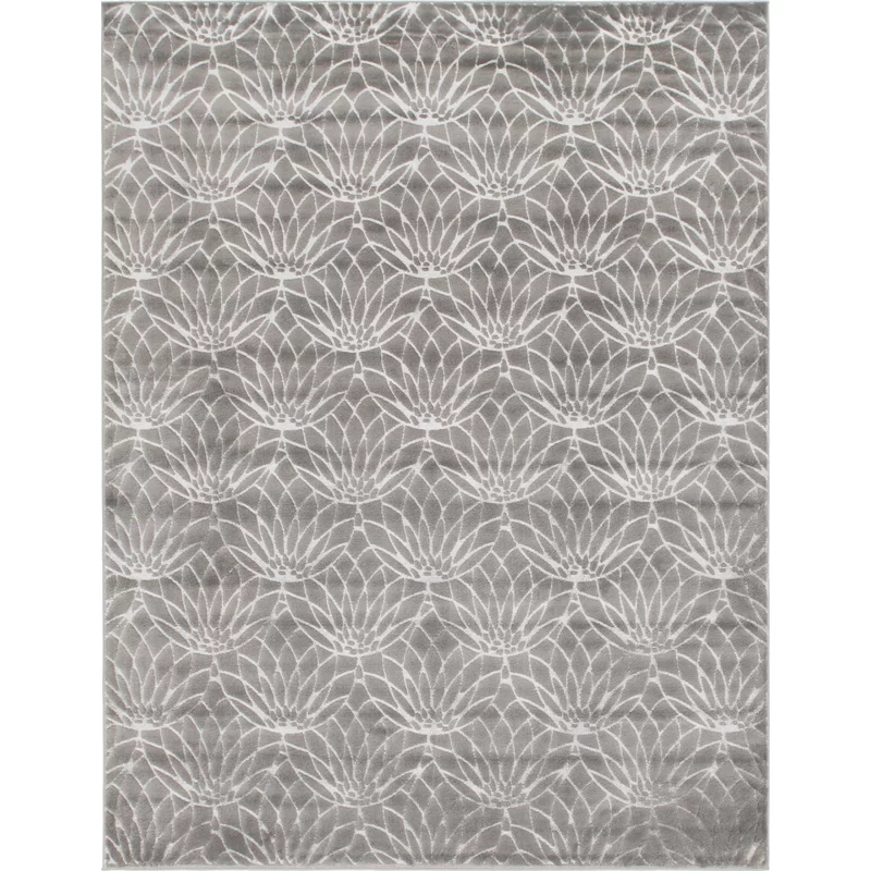 Glam Gray Area Rug In 2020 Area Rugs Grey Area Rug Floral Area Rugs