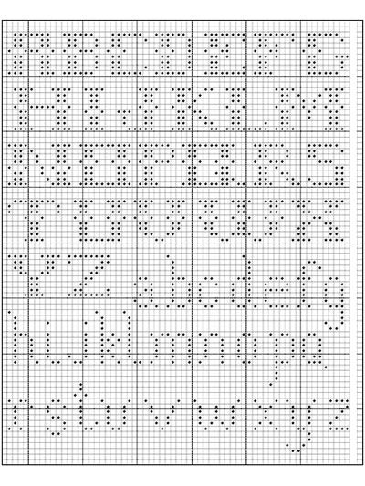 Alphabet In Filet Crochet I Free Crochet Pattern Filet Crochet