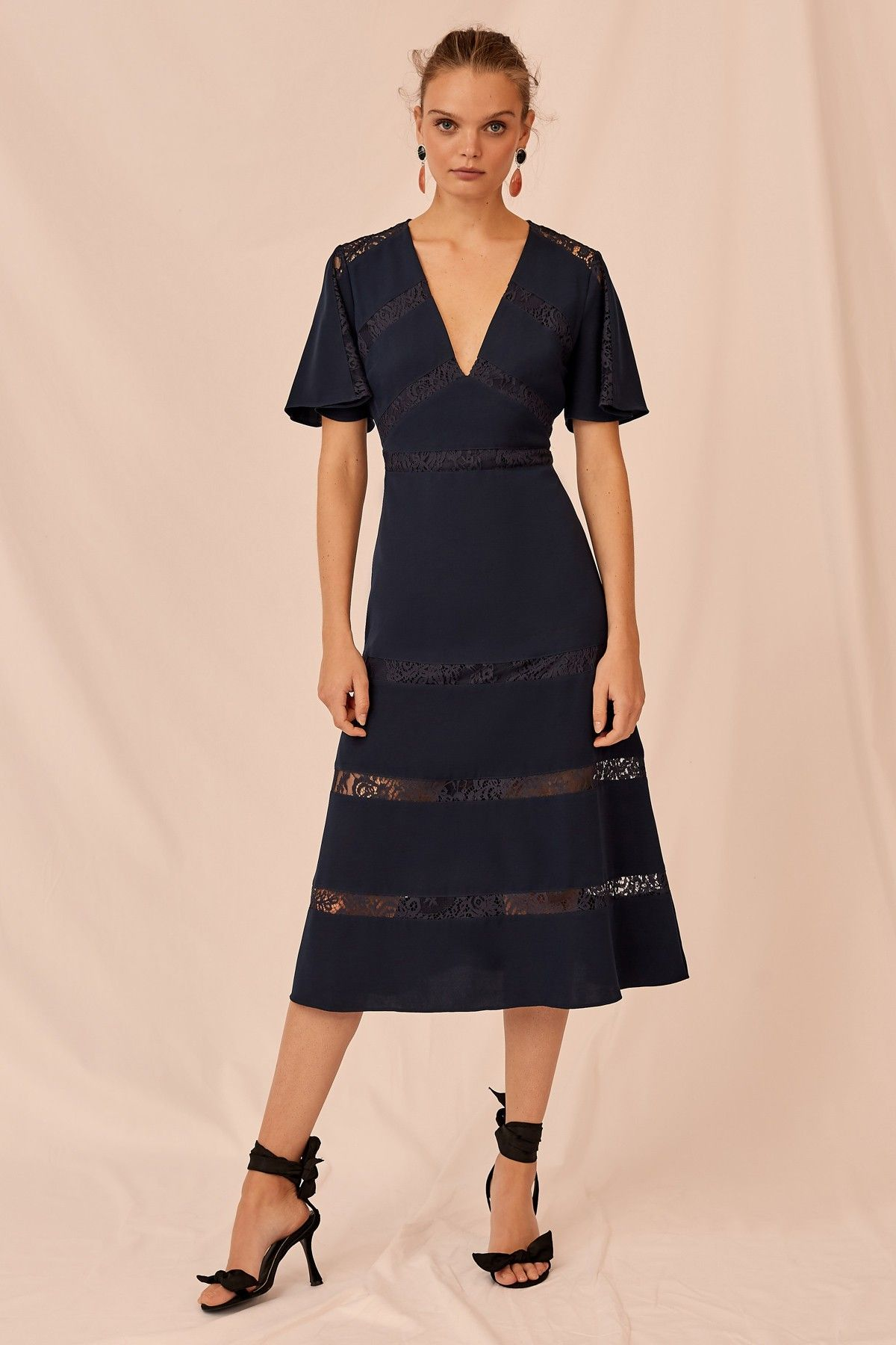 Sense Midi Dress Navy Keepsake Bnkr Navy Midi Dress Buy Midi Dress Midi Dress