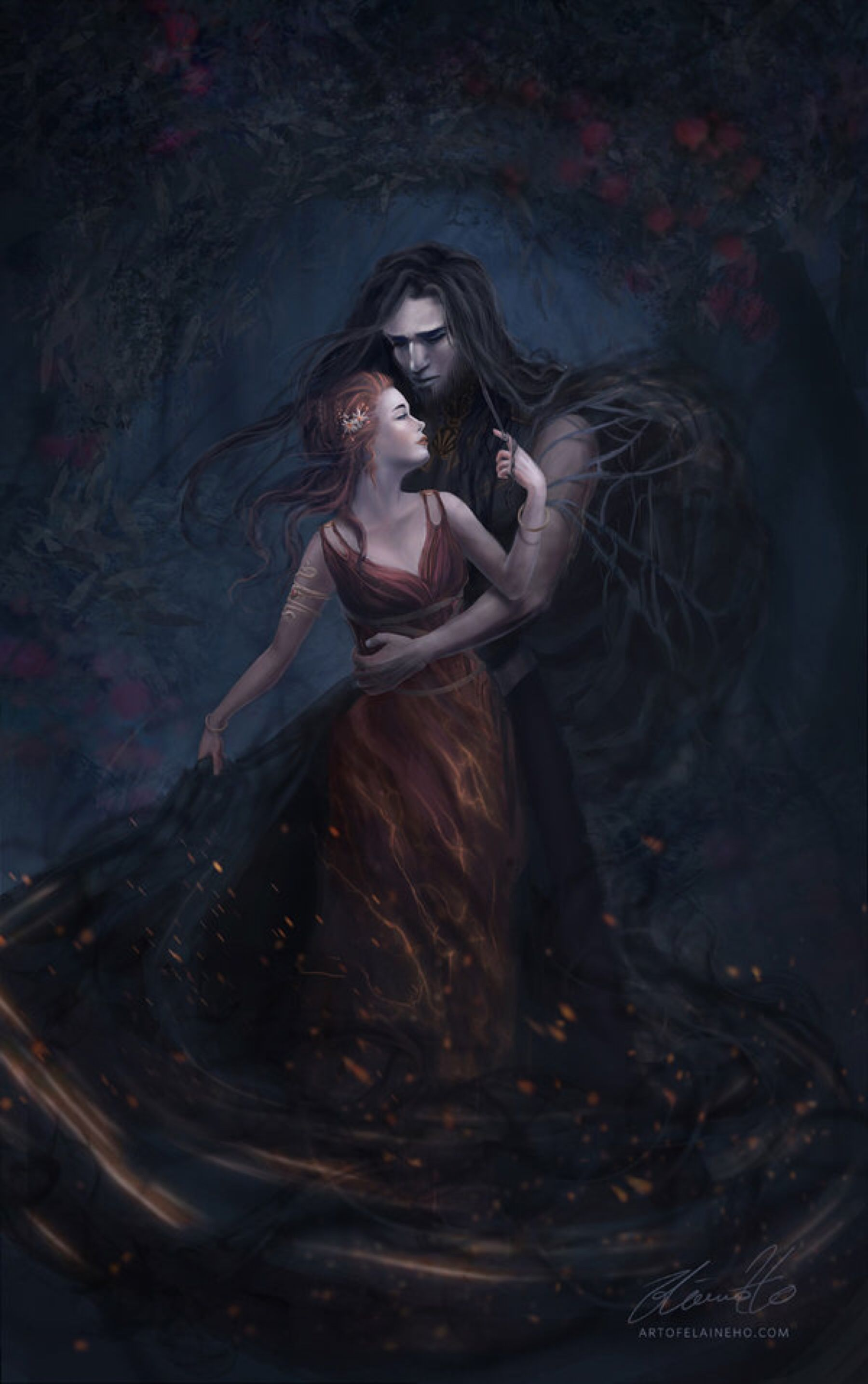 intertwined hades x persephone by enveniya on
