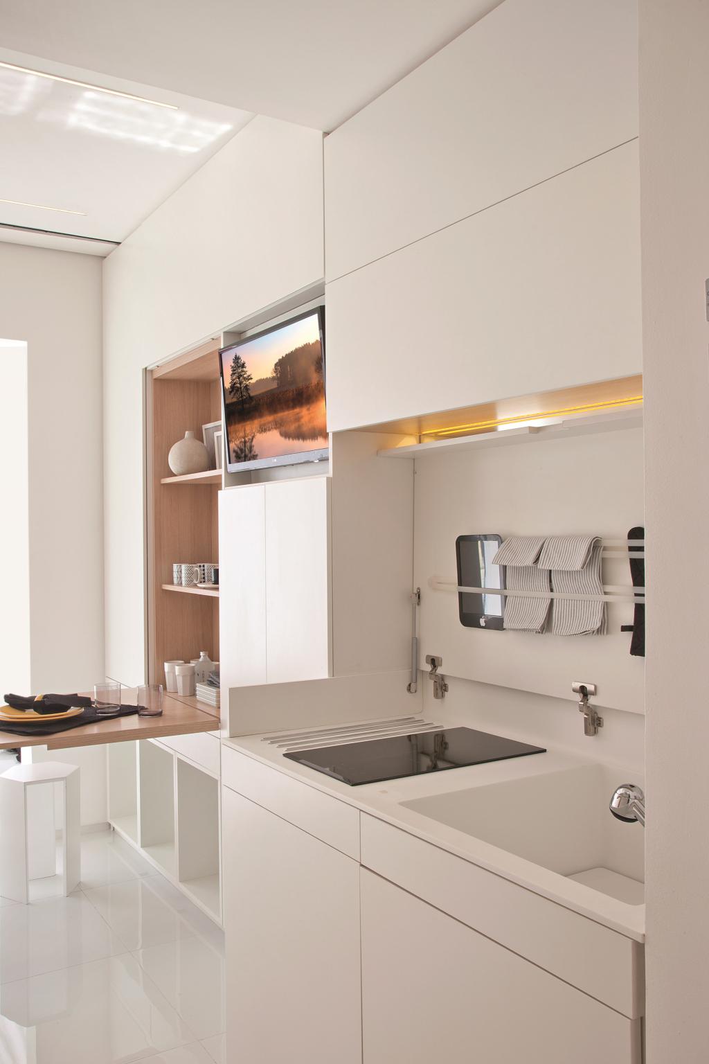 Apê completo em 14 m² | Küche