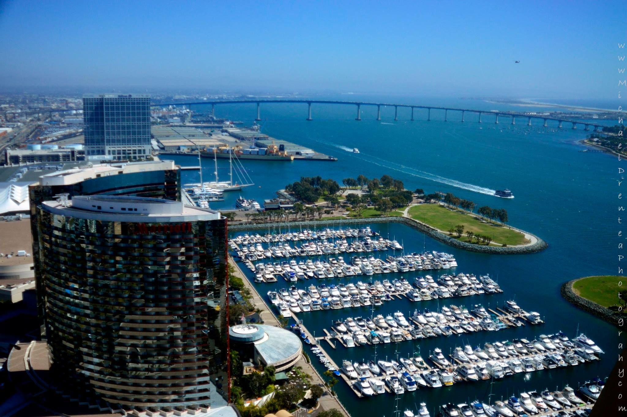 San Diego - Coronado Bridge & San Diego Marriott Marquis ...