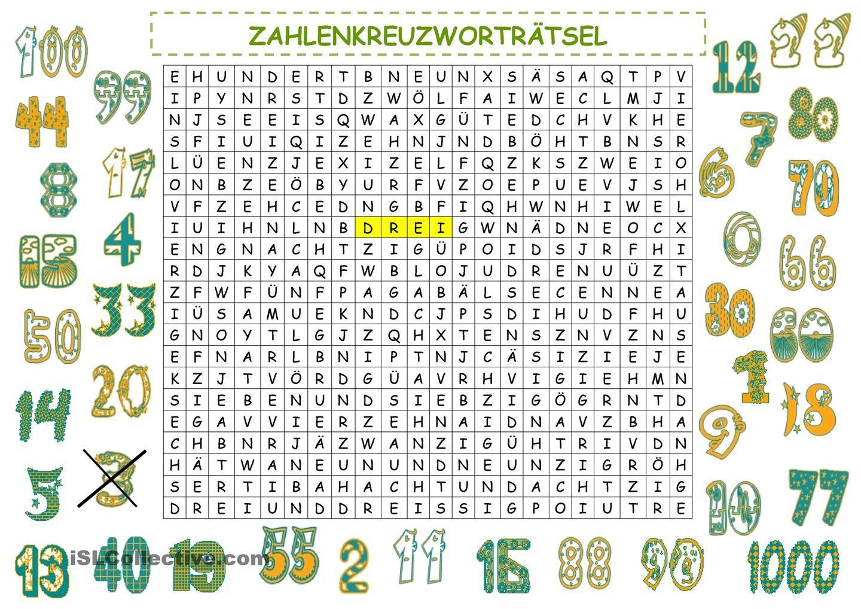 Zahlen | Zahlen, Deutsch und Arbeitsblätter