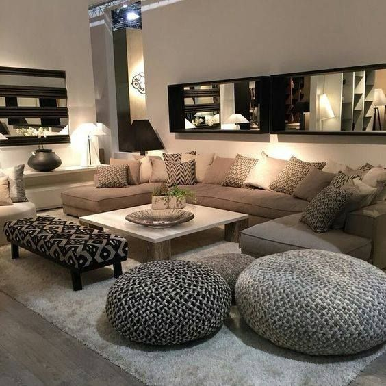 cocooning basement designs pinterest salon idee. Black Bedroom Furniture Sets. Home Design Ideas