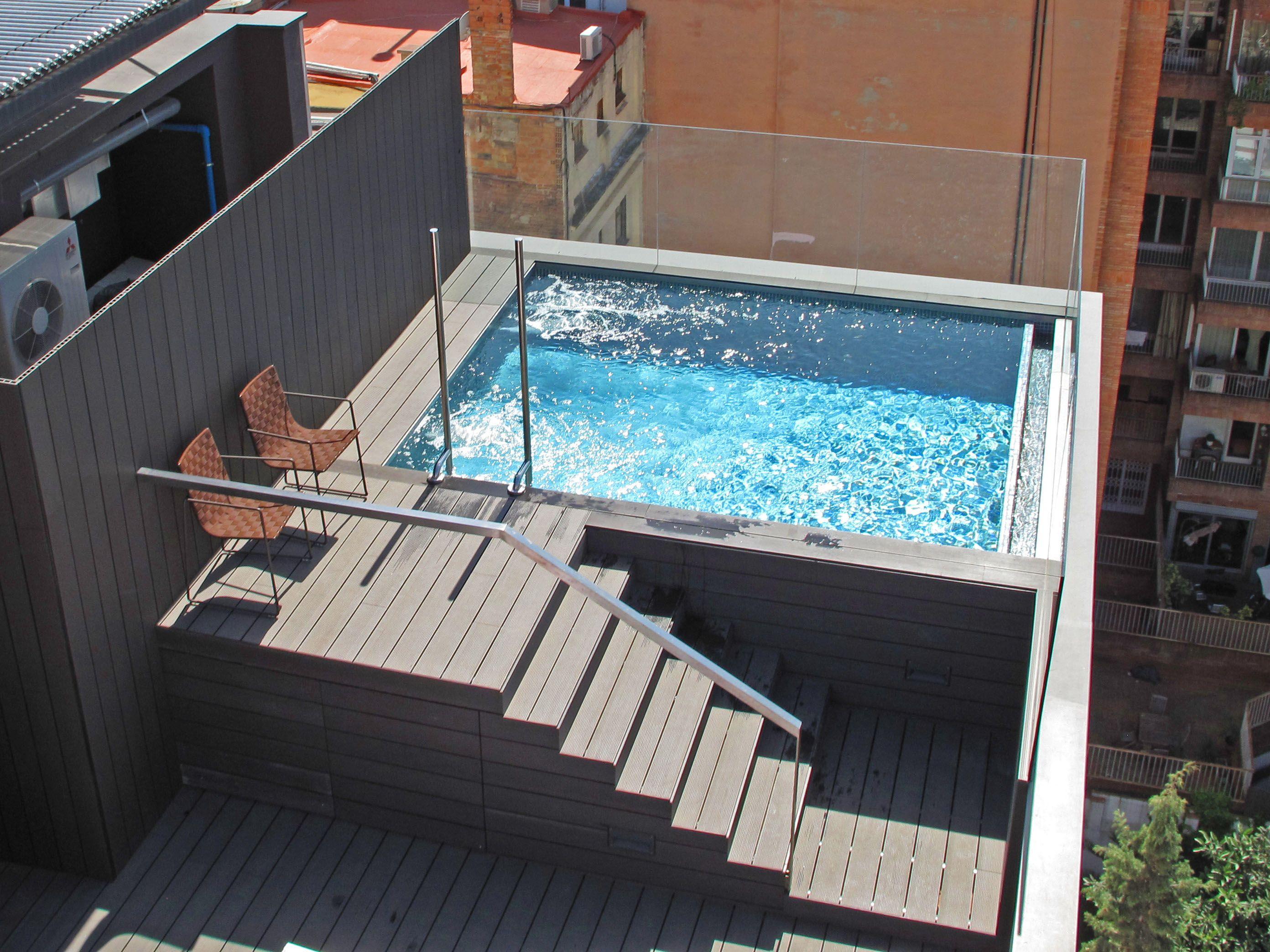 Resultado de imagen de terrazas para piscinas elevadas   Patio ...