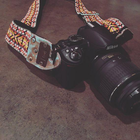 Vintage Tribal Camera Strap