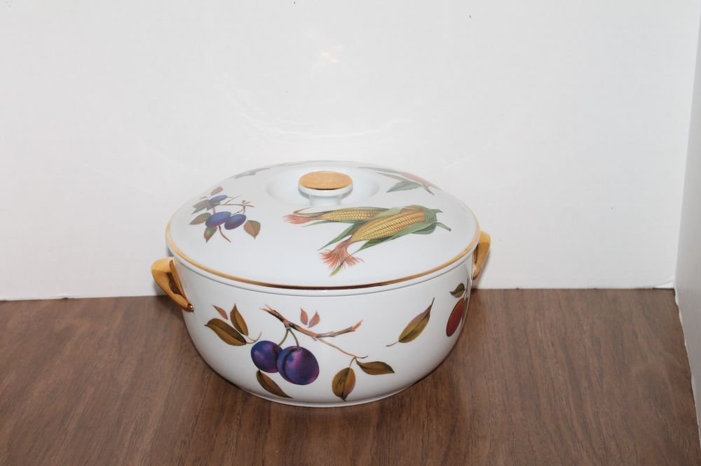 VTG Evesham Royal Worcester Oven to Tableware Casserole and Lid England 1961 #RoyalWorcester & VTG Evesham Royal Worcester Oven to Tableware Casserole and Lid ...