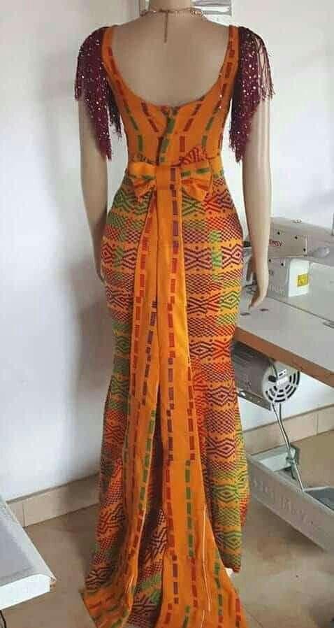 Robe de mariée | Robe africaine droite, Mode africaine robe, Mode africaine robe longue