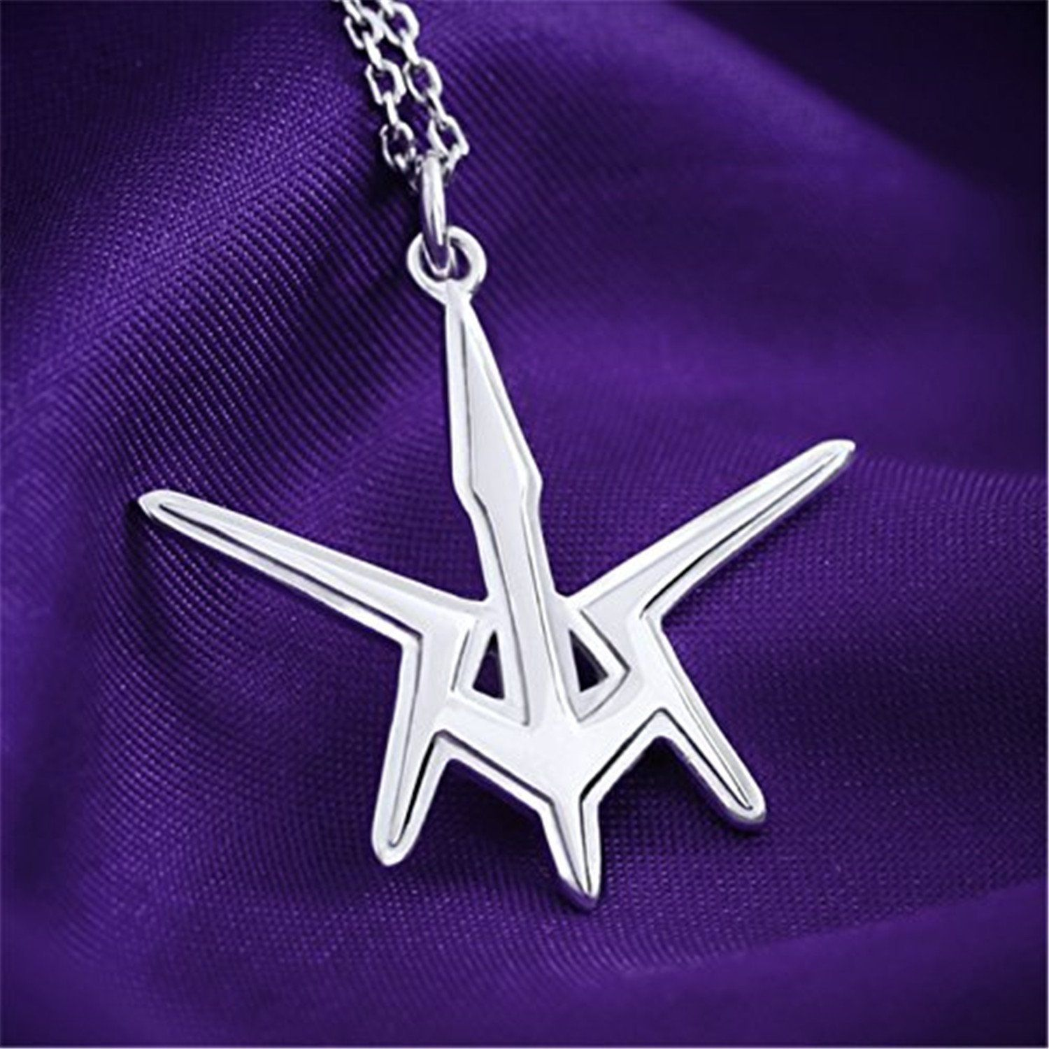 Vicwin One Code Geass Black Knights Logo Necklace 925 Sterling