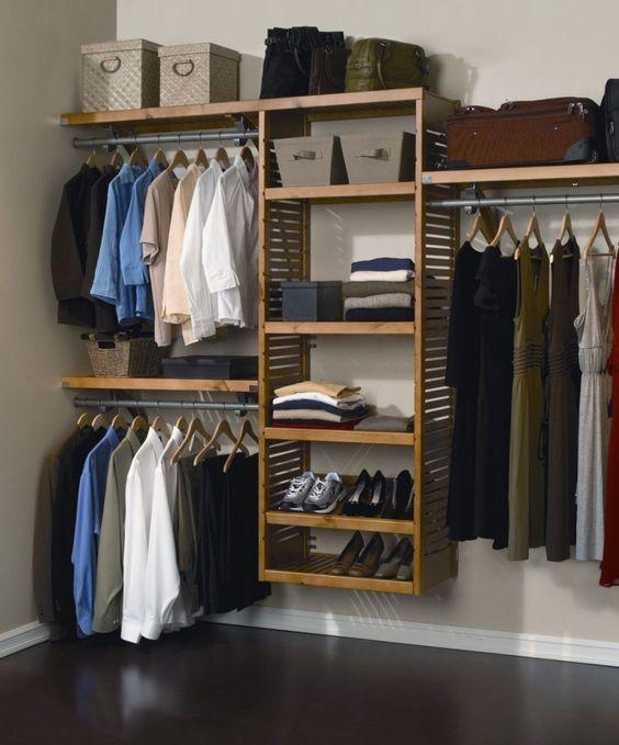 20 Ideas de closets sencillos