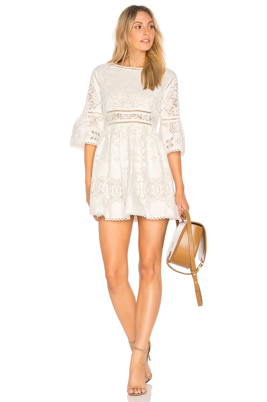 a03ada7fd Spell & The Gypsy Collective Clover Lace Mini Dress in White | REVOLVE