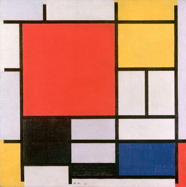 Piet Mondriaan Composition En Rouge Jaune Bleu Et Noir