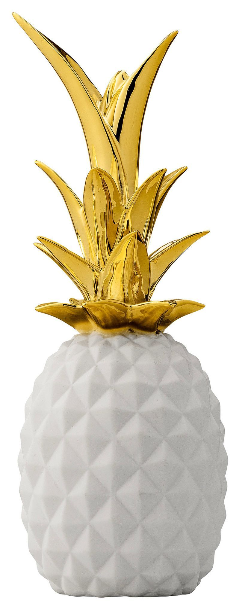 Gold and Clear Glass Pineapple Shaped