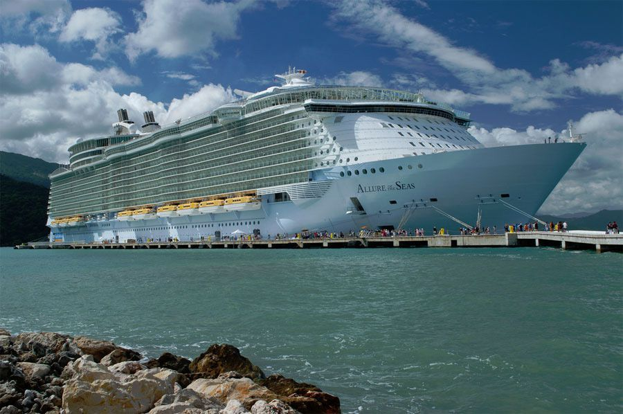 A Side View Of The Allure Of The Seas Cruise Ship Allure Of The - Allure cruise ship