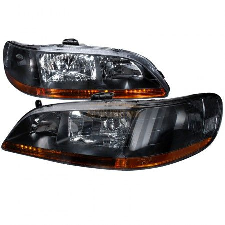 2000 Honda Accord Black Crystal Headlights Spec D Pair Honda Accord Honda Honda Accord Coupe