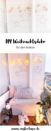 5 Weihnachtsdeko für den Balkon #weihnachtsdekobalkon