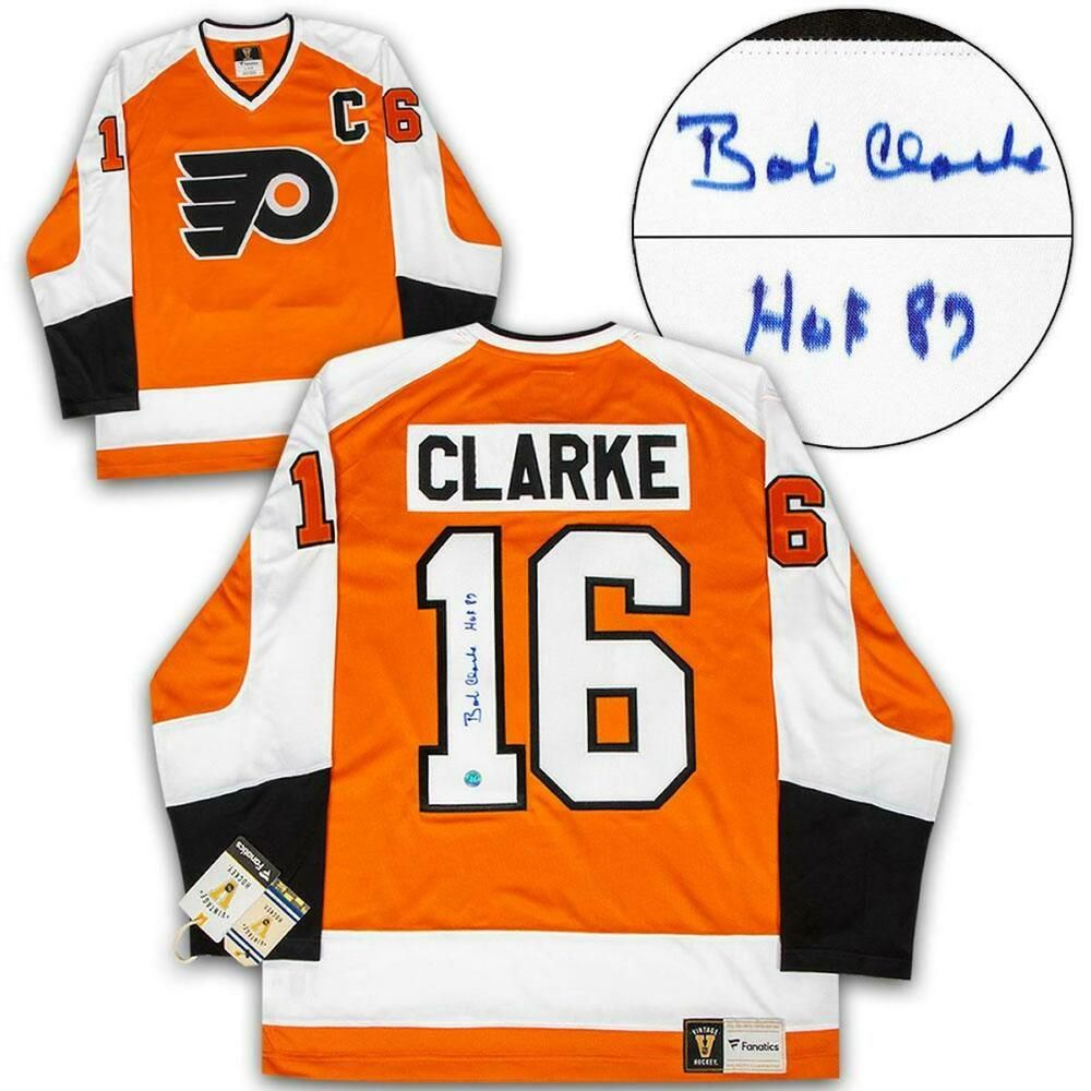 Bobby clarke philadelphia flyers autographed fanatics