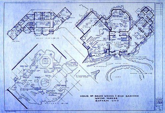Floor Plan Blueprints Floor Plan Wayne Manor House Plan