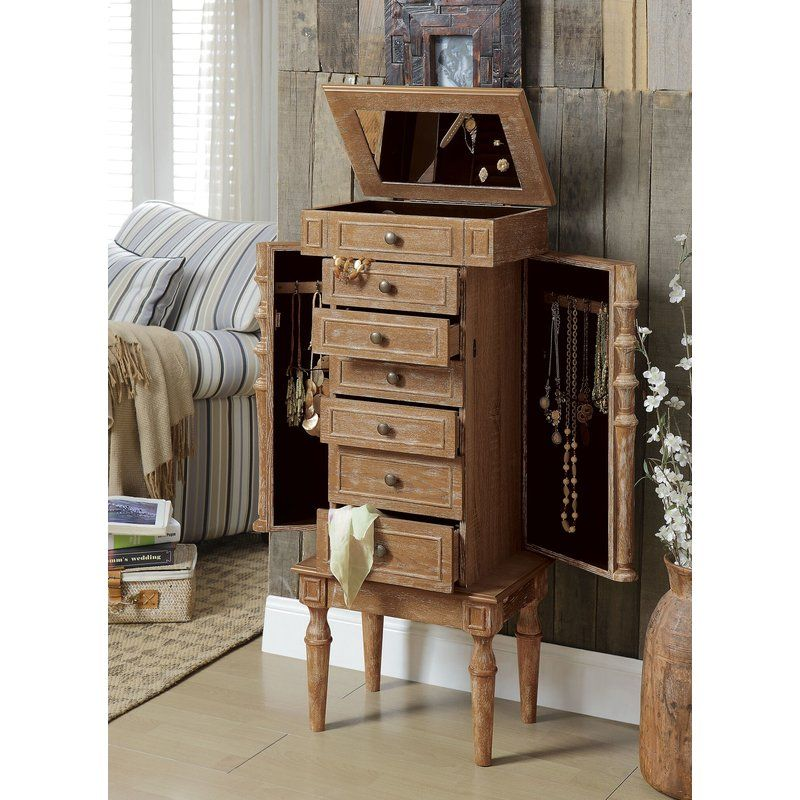 Mcginnis Rustic Classy Free Standing Jewelry Armoire with