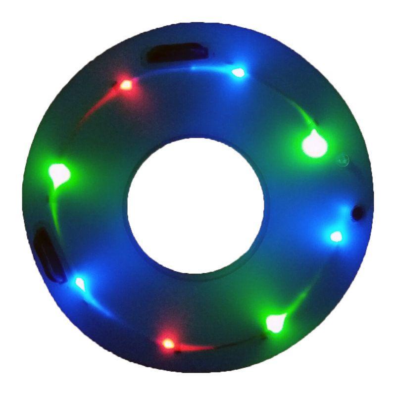 IPRee Glow Swimming Ring Led Luminous Inflatable Kids Children Learner Swim Pool Circle