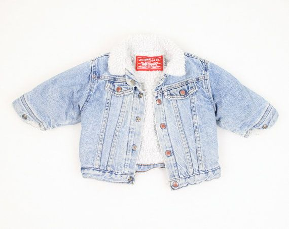 5f13c8f2dd71 Vintage Baby Denim Jacket Levis Blue Jean Jacket 18 months 18m 18 ...