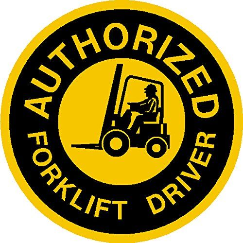 "Authorized Forklift Driver Hard Hat Hardhat Decal Sticker Placard 2""W X 2""H - Sold in Package of 4 IMakeDecalsforYou http://www.amazon.com/dp/B00M4V5LWA/ref=cm_sw_r_pi_dp_fpn5ub18Q50S5"