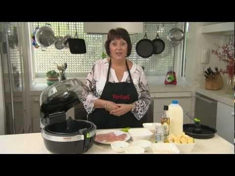 Actifry 2 In 1 Chicken Schnitzel Actifry Recipes Actifry Tefal Actifry