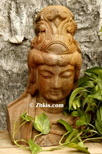 Kwan Yin Bust Large Outdoor Asian Bust. You Wonderful Piece For An Asian  Garden This Is A Larger Statue Bust That Can Stand Alone By Itself Made Of  Durable ...