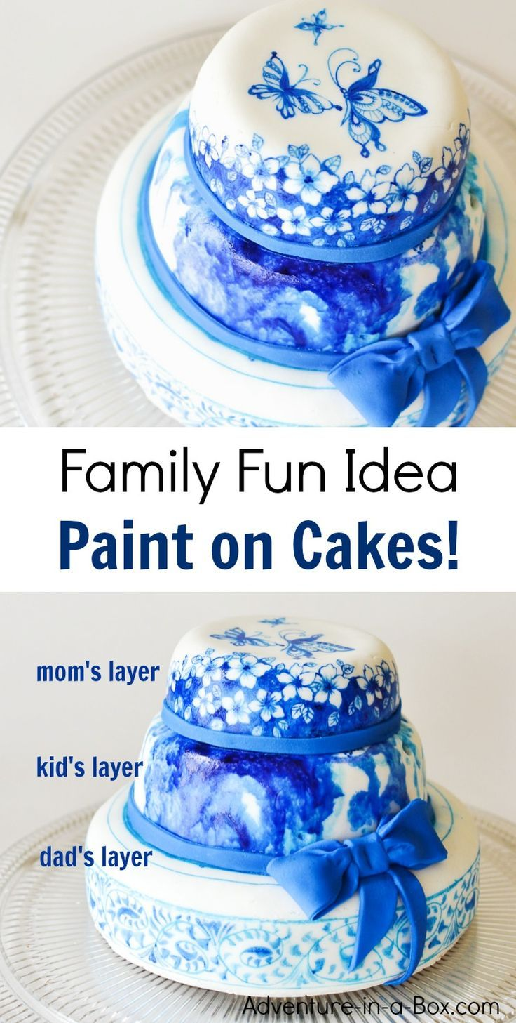 Paint On Cakes A Messy And Delicious Idea For Family Fun Night If You Like Doing Art Projects Crafting With Kids This Is Winner