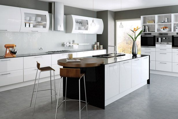 Modern Kitchen Cabinet, How To Clean Gloss White Kitchen Cabinets