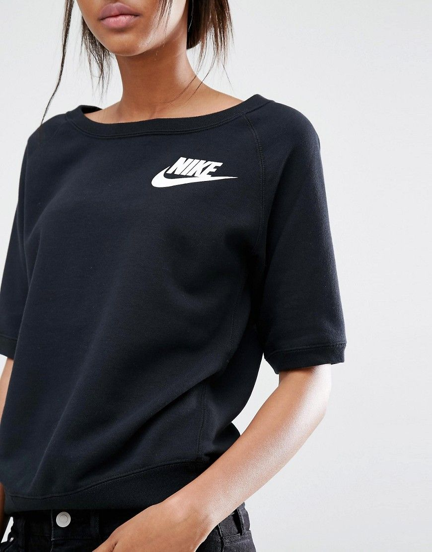 Image 3 of Nike Rally Short Sleeve Crew Neck Sweatshirt ...
