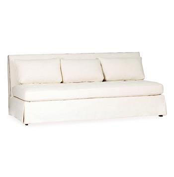Julia Classic Armless 3 Seat Dining Sofa Banquette