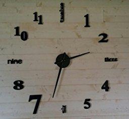 gufan 3d diy pendule murale moderne métallique horloge de salon