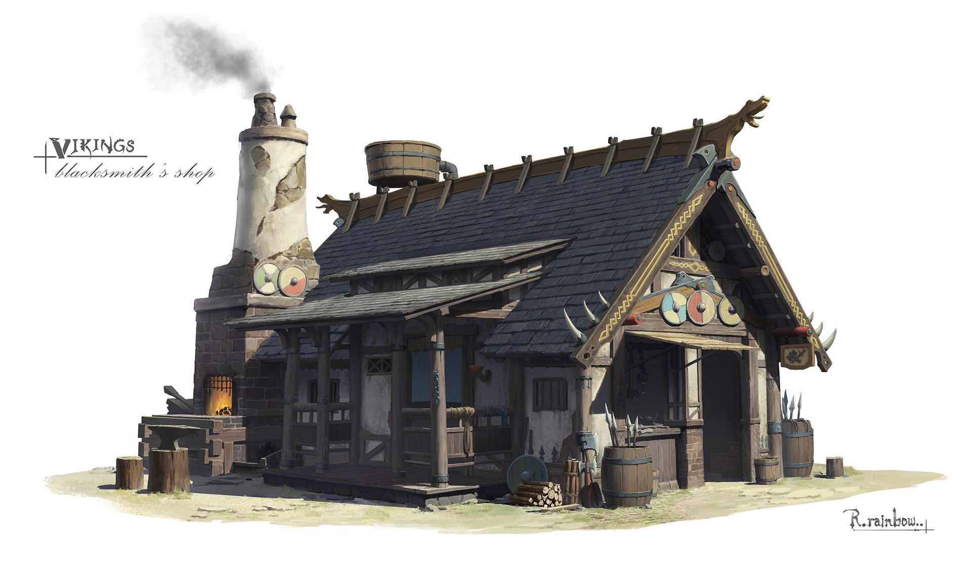 Artstation Vikings 3 Nydia Ni ファンタジーハウス ファサード